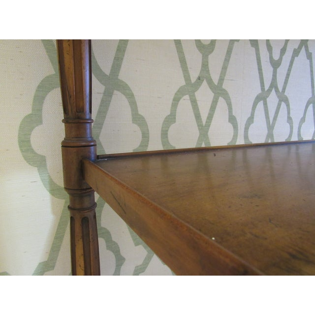 Brown Console Table by Baker Furniture For Sale - Image 8 of 11