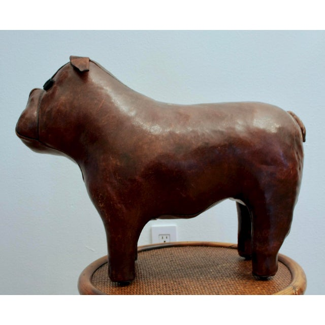 Boho Chic Abercrombie and Fitch Dimitri Omersa Leather Bulldog For Sale - Image 3 of 12