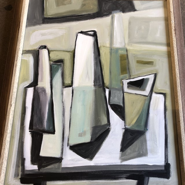 Abstract Original Stewart Ross Modernist Still Life Painting For Sale - Image 3 of 5