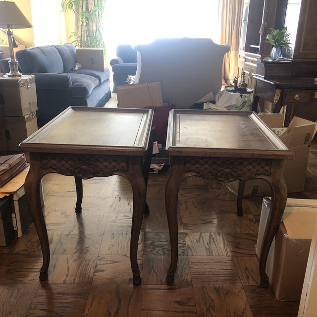 1960s French Style End Tables - a Pair For Sale - Image 11 of 11
