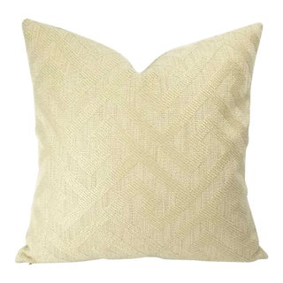 F. Schumacher l'Orient Fret Ecru Pillow Cover For Sale
