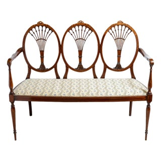 1900s Irish Hepplewhite Settee For Sale
