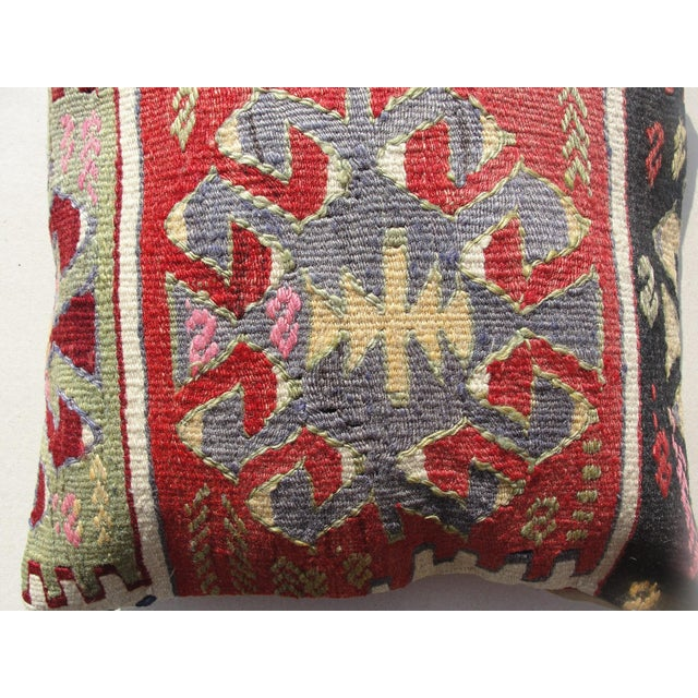 Kilim Rug Pillow For Sale - Image 5 of 11