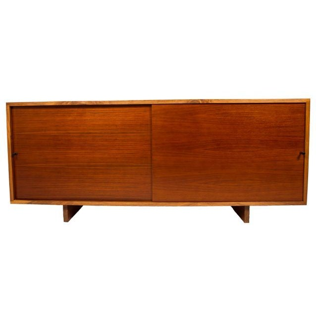Nakashima Style Solid Walnut Media Cabinet For Sale