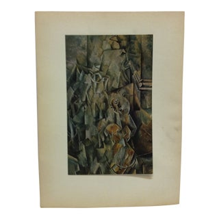 """""""Le Violin"""" Mounted Print by Georges Braque For Sale"""
