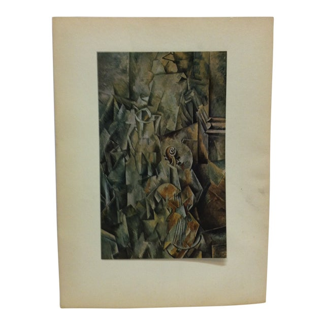 """Le Violin"" Mounted Print by Georges Braque For Sale"