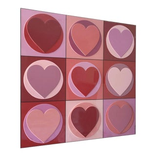 """""""You Are My Valentine"""" Contemporary Abstract Mixed-Media Painting by Mauro Oliveira, Framed For Sale"""
