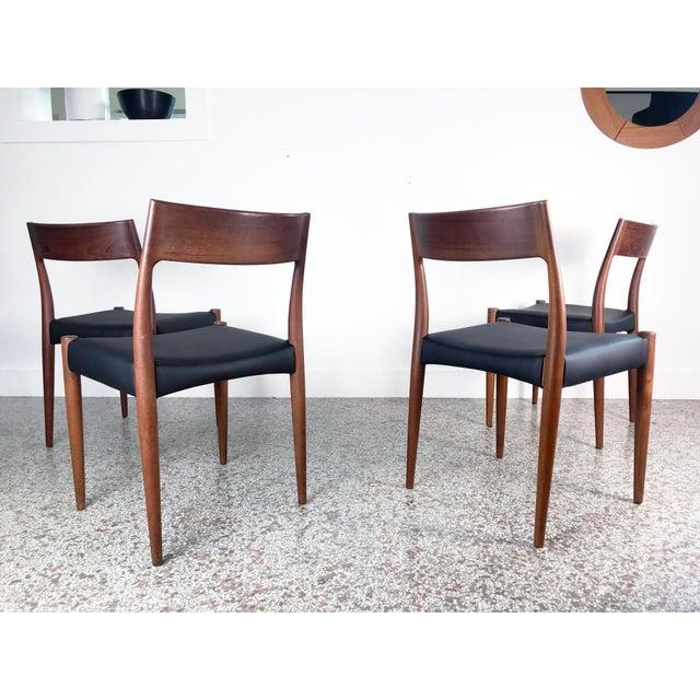 1960s 1960s Vintage Arne Hovmand Olsen Danish Teak Dining Chairs - Set of 6 For Sale - Image 5 of 12