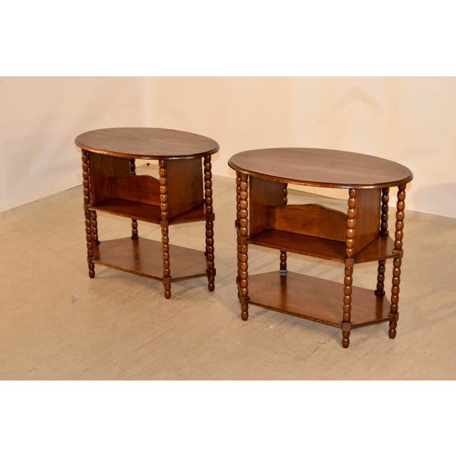 Late 19th Century Late 19th C Pair of English Side Tables For Sale - Image 5 of 7