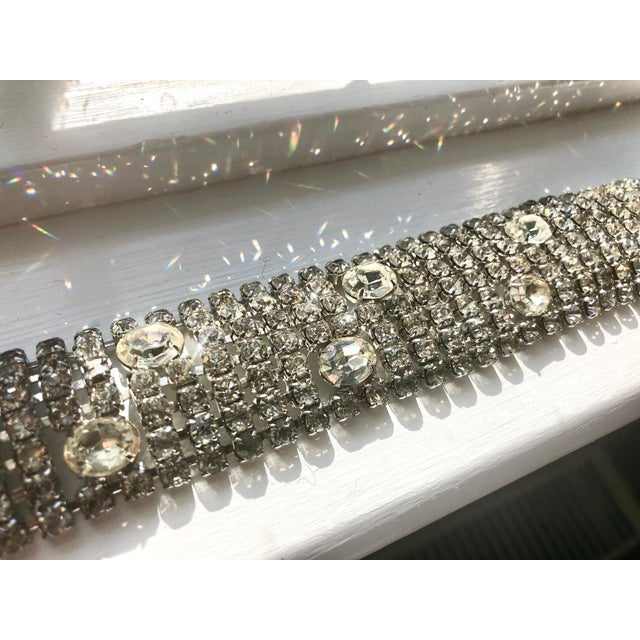 Stunning Weiss Crystal Encrusted Bracelet For Sale - Image 11 of 12
