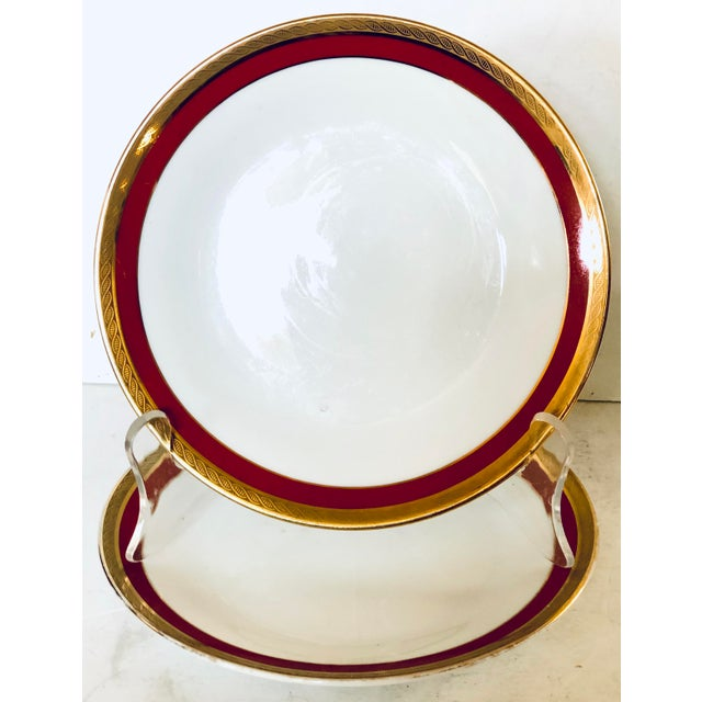 Hollywood Regency Pair of Ginori Small Plates For Sale - Image 3 of 3