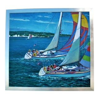 """Sailing"" Painting by Robert Frame For Sale"