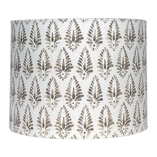 Brown Patterned Lamp Shade For Sale - Image 4 of 5