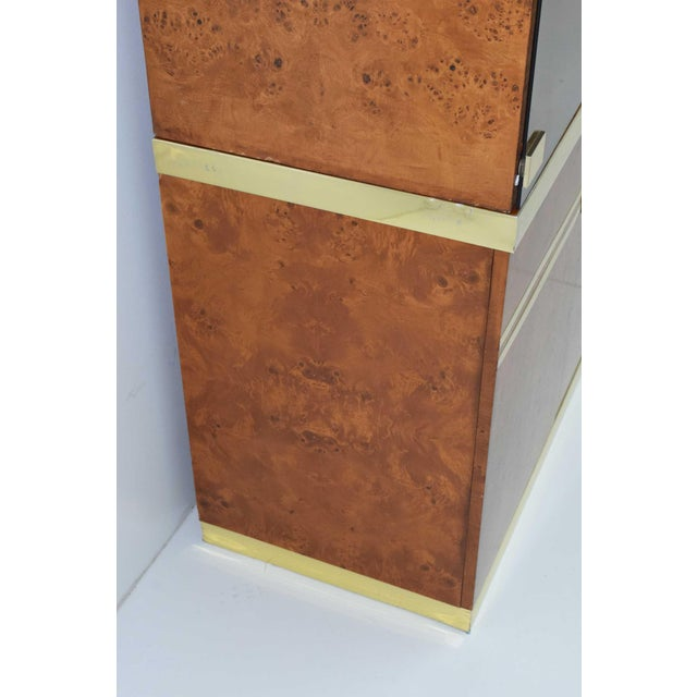 1970s Pierre Cardin Signed Burl Wood Sideboard With Two Tower Cabinets, France For Sale In Dallas - Image 6 of 13