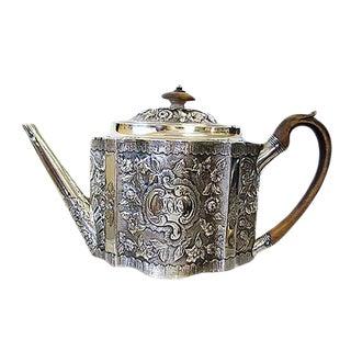 Late 18th Century Vintage Peter & Jonathan Bateman Sterling Tea Pot For Sale