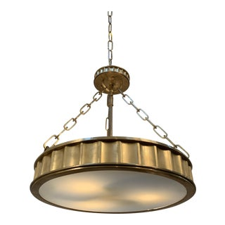 Hudson Valley Middlebury Pendant in Brass For Sale