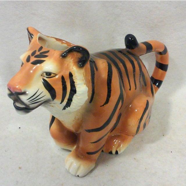 Ceramic Tiger Pitcher For Sale In Detroit - Image 6 of 8