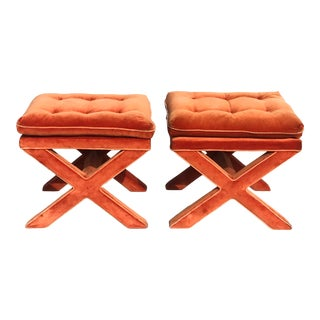 Billy Baldwin X Base Ottoman - a Pair For Sale