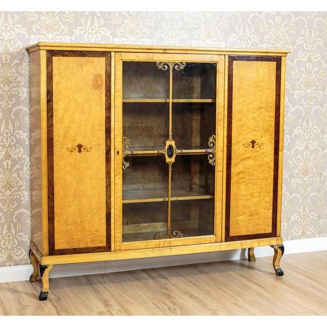 20th Century Bookcase in Birchen Veneer For Sale - Image 6 of 10