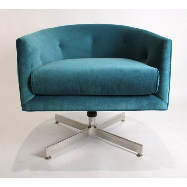 1960s Milo Baughman Tilt and Swivel Lounge Chairs for Thayer Coggin For Sale - Image 5 of 11
