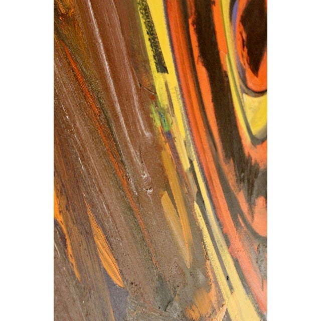 1980s Contemporary Modern Abstract Acrylic Canvas Painting Hugh O'Donnell For Sale - Image 5 of 10