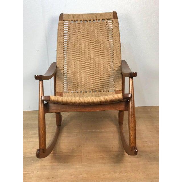 Mid-Century Wegner Style Rocking Chair - Image 2 of 6