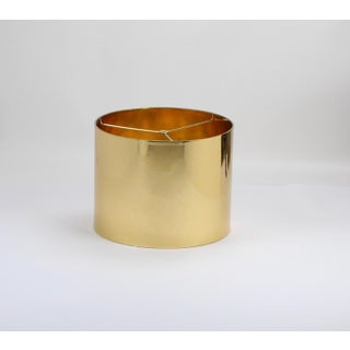 Small High Gloss Gold Drum Lampshade Preview