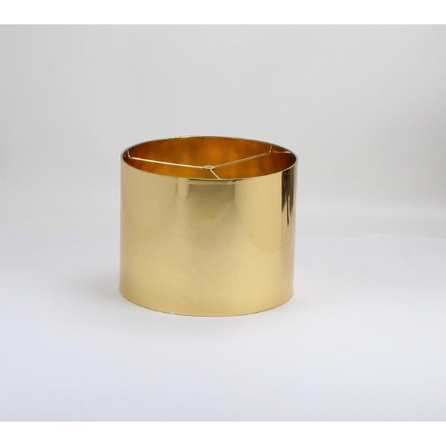 High Gloss Drum Lamp Shade Made To Order: 1-2 week lead time Individually hand-made Exterior Color: Gold Interior Color:...