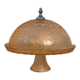 1930s Shabby Chic Depression Glass Cake Stand and Dome