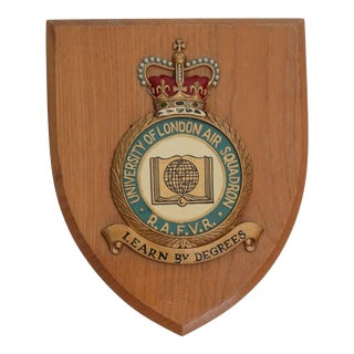 English University of London Air Squadron Wall Plaque For Sale