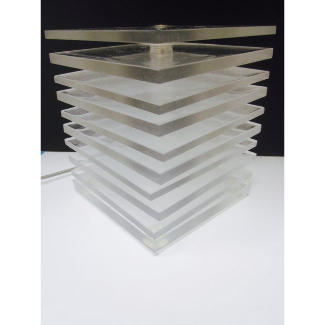 Lucite Plastic Stacking Mood Lamp Light - Image 9 of 9