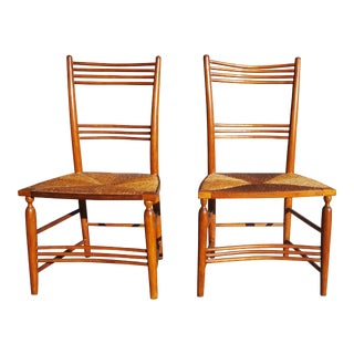 Early 20th Century Antique Traditional Countryside Chairs- A Pair For Sale