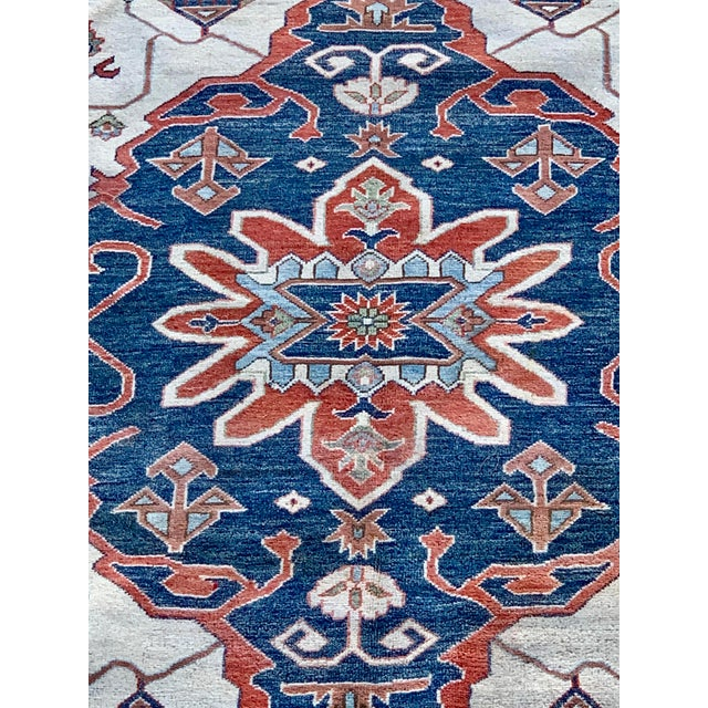 Art Deco 1990s Serapi Large Area Rug-10′ × 13′9″ For Sale - Image 3 of 13