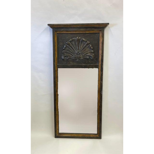 2010s Florentine Black Wood Mirror For Sale - Image 5 of 7
