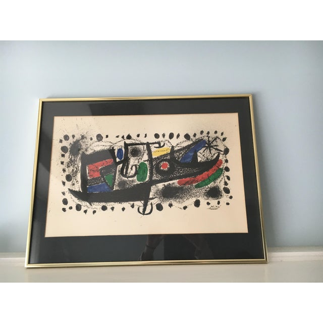 "Joan Miro Mid-Century ""Star Scene"" Signed Original Lithograph - Image 2 of 10"