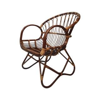 Franco Albini Style Rattan Chair