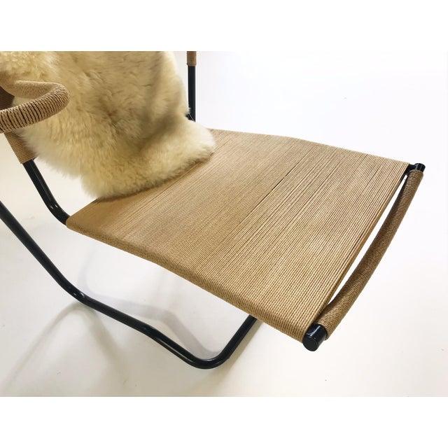 Animal Skin Dan Johnson for California Living Model 2750 Lounge Chair With Brazilian Sheepskin For Sale - Image 7 of 9