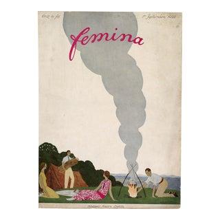 """Femina, September 1922"" Original Vintage French Magazine Cover For Sale"