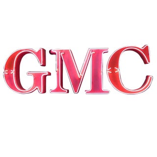 Gmc Automobiles Dealership Neon Sign For Sale