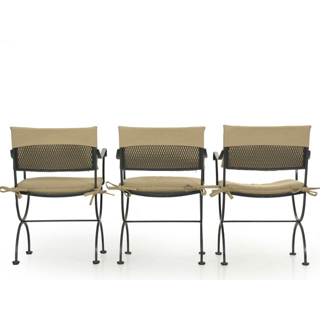 Set of Six Salterini Style Black Iron Patio Dining Chairs, Mid 20th Century For Sale - Image 10 of 13