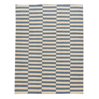 21st Century Modern Striped Flatweave Kilim Rug For Sale