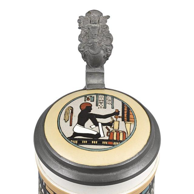 Egyptian Mettlach Beer Stein - Image 4 of 6