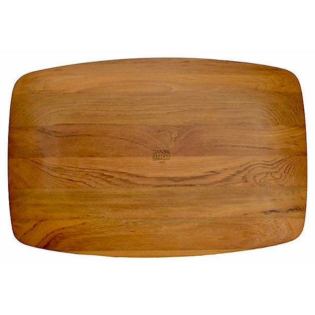 "Contemporary 1960s Mid-Century Modern Jens Quistgaard Dansk 18"" Teak Tray For Sale - Image 3 of 6"