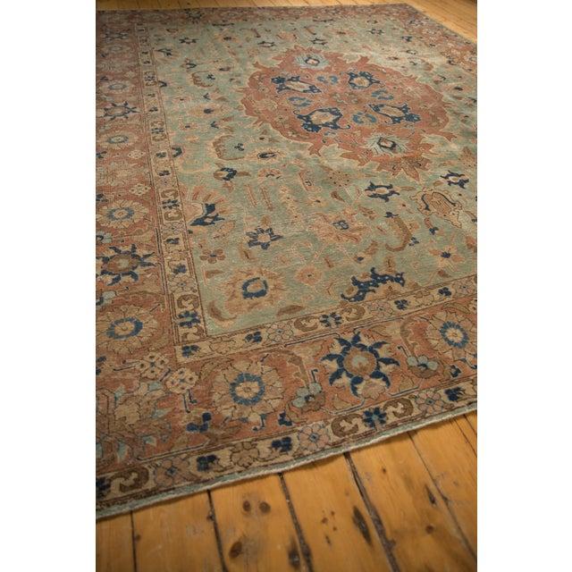 """Vintage Distressed Tabriz Carpet - 8'5"""" X 10'7"""" For Sale - Image 10 of 12"""