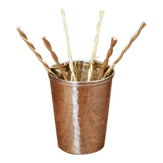 Gold Barbed Wire Cocktail Stirrers - Set of 7 For Sale