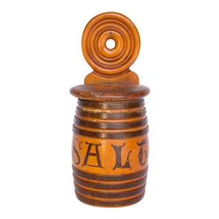 Turned Mixed Wood Salt Cellar For Sale