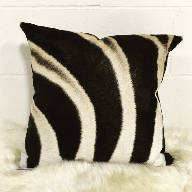 Zebra Hide Pillow - Image 2 of 3