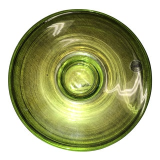 Moria Vinka Green Glass Art Candle For Sale