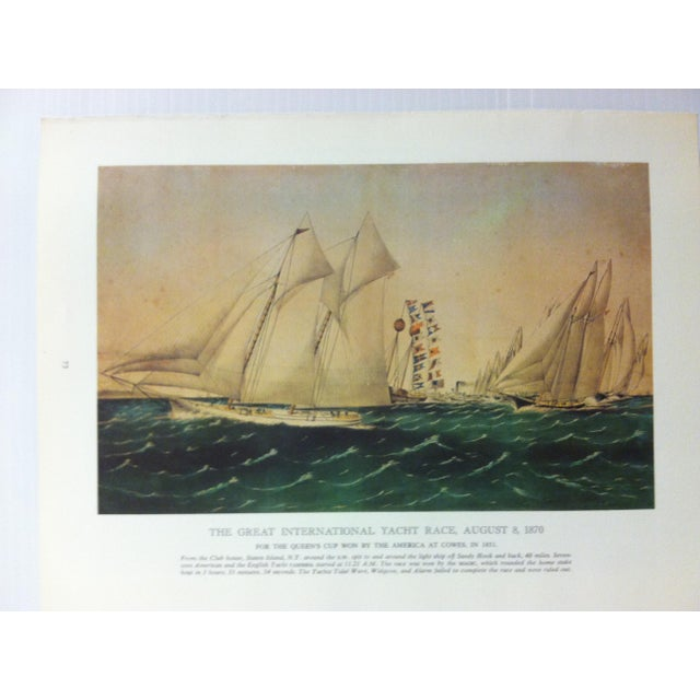 This is a Currier & Ives Chronicles of America color print on paper that was reproduced from the original colored stone...