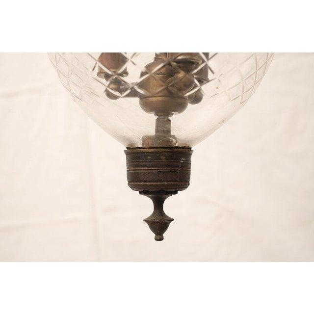English Late 19th Century English Bell Jar Hall Lantern For Sale - Image 3 of 6